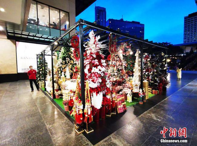 马尼拉绿带商圈圣诞礼品屋开张