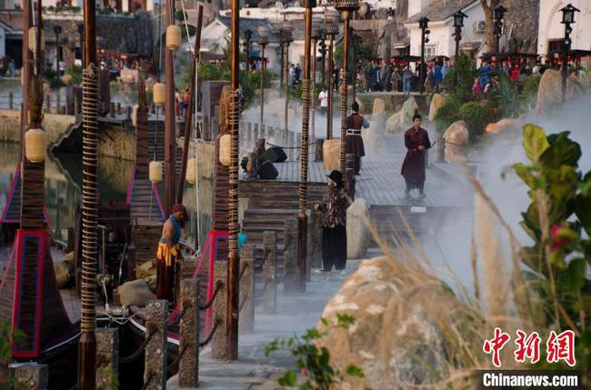 广西文旅发展大会举办 再现海丝古港情景