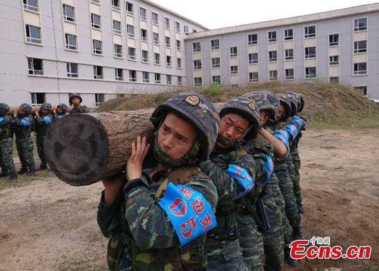 Armed police undergo intensive training in NE China